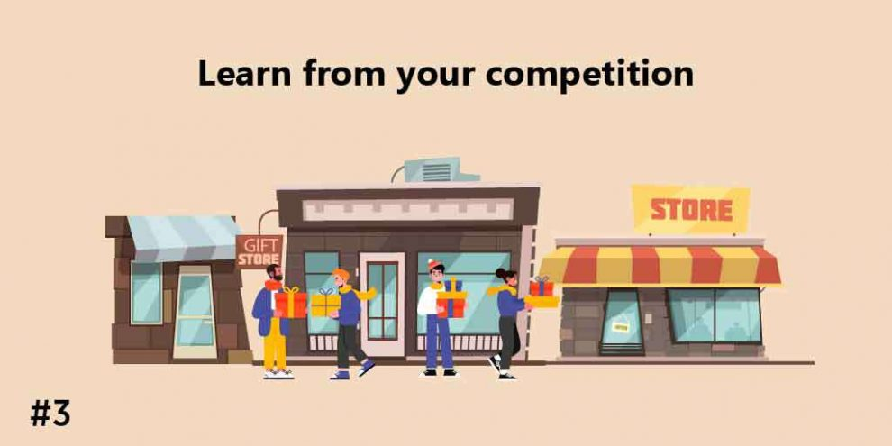 Learn from your competition, gift shop ideas