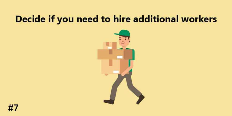 Decide if you need to hire additional workers