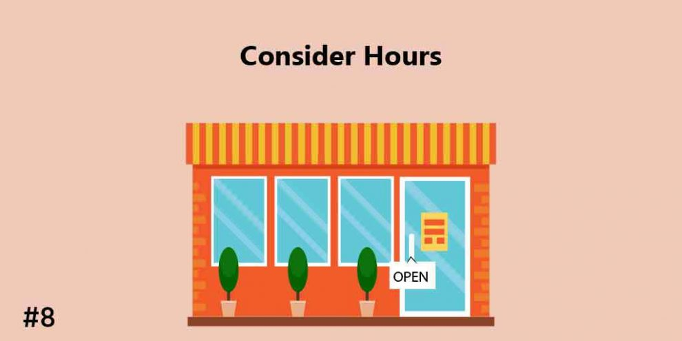 Consider Hours, gift shop business plan