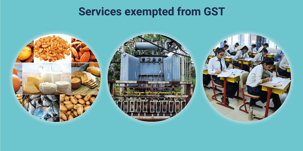 GST, Exemption, 0 GST, zero tax, business accounting, services exempted from GST