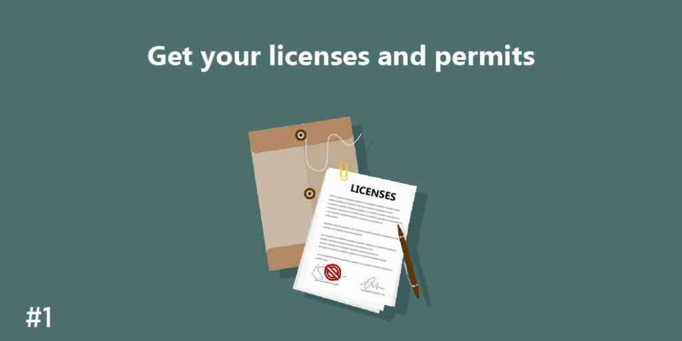 Get your Licenses and permit