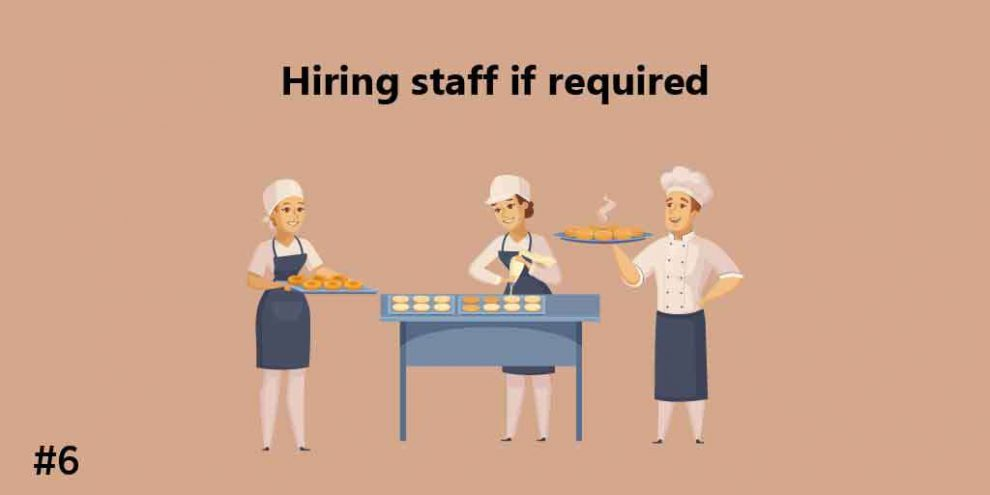 Hiring Staff if required
