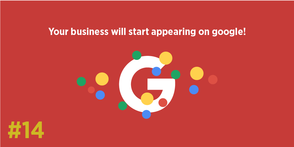 Your business will start appearing on google!
