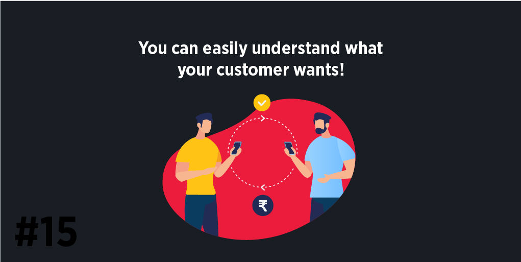You can easily understand what your customer wants!