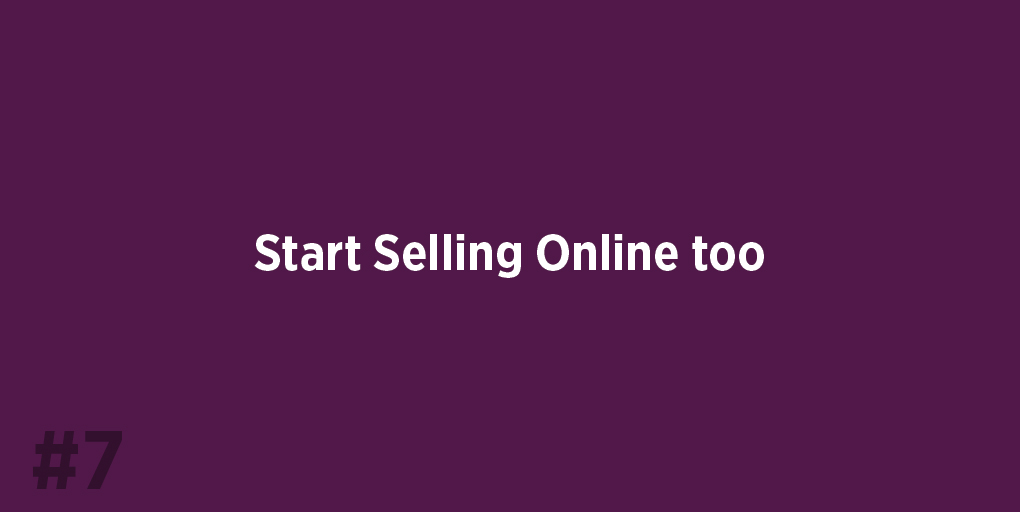 Start Selling Online too