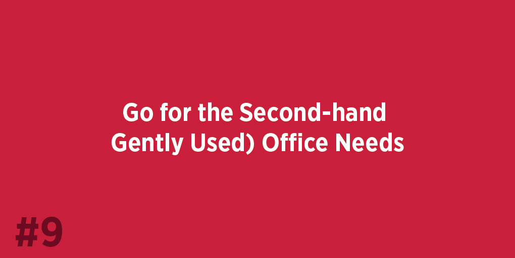 Go for the Second-hand (Gently Used) Office Needs