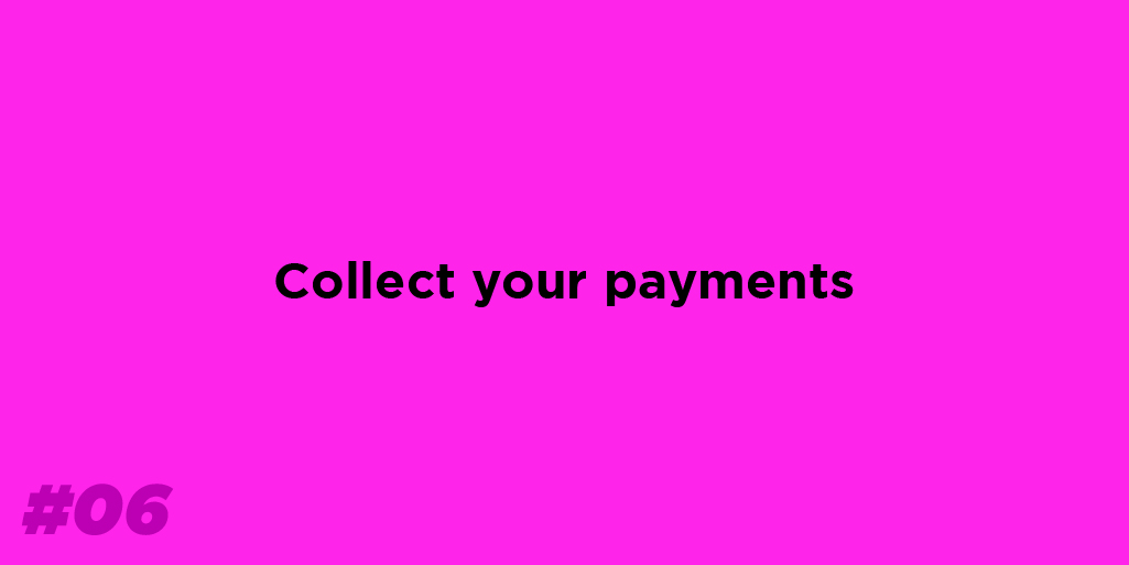 Collect your payments from delivery partners.