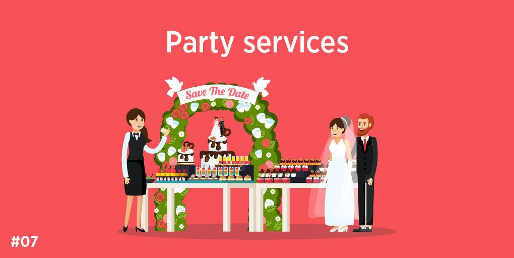 7)Party services