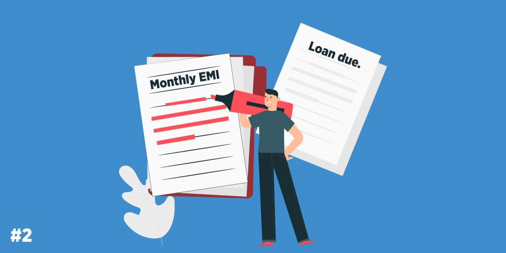 monthly EMI and loan dues