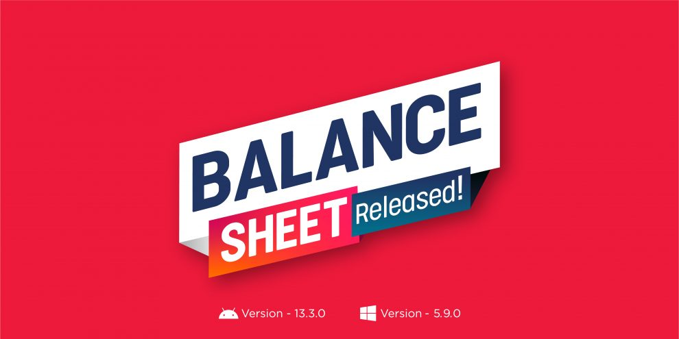 Balance Sheet Released