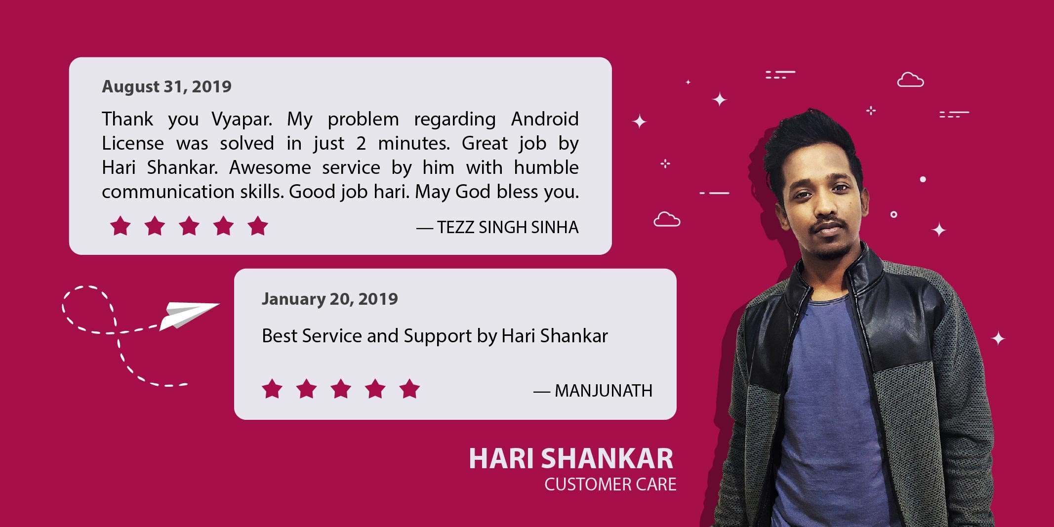 Solving Problem With Patience: How Hari Shankar is Appreciated by Vyapar's customers!