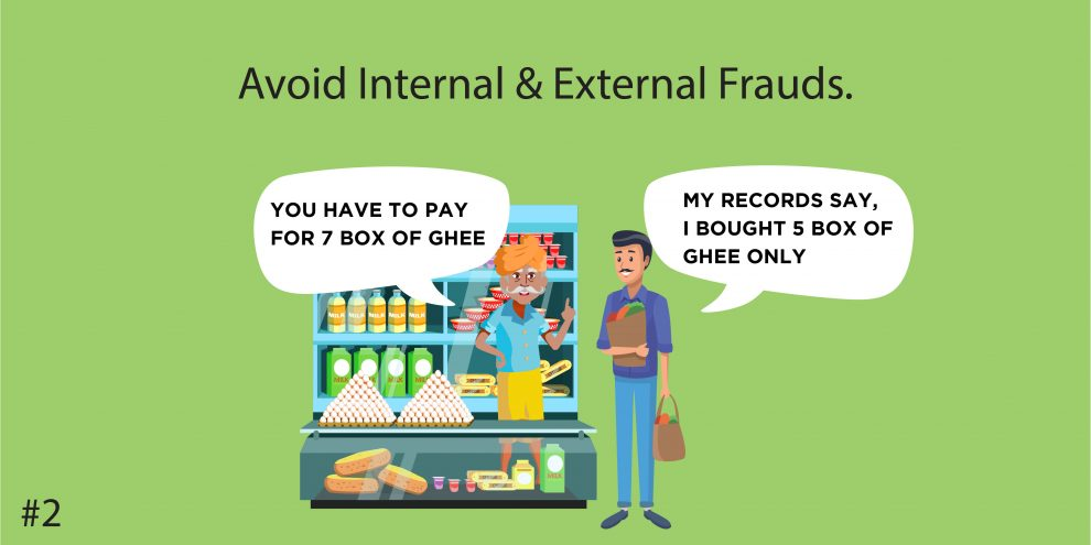 Avoid Internal & External Frauds.