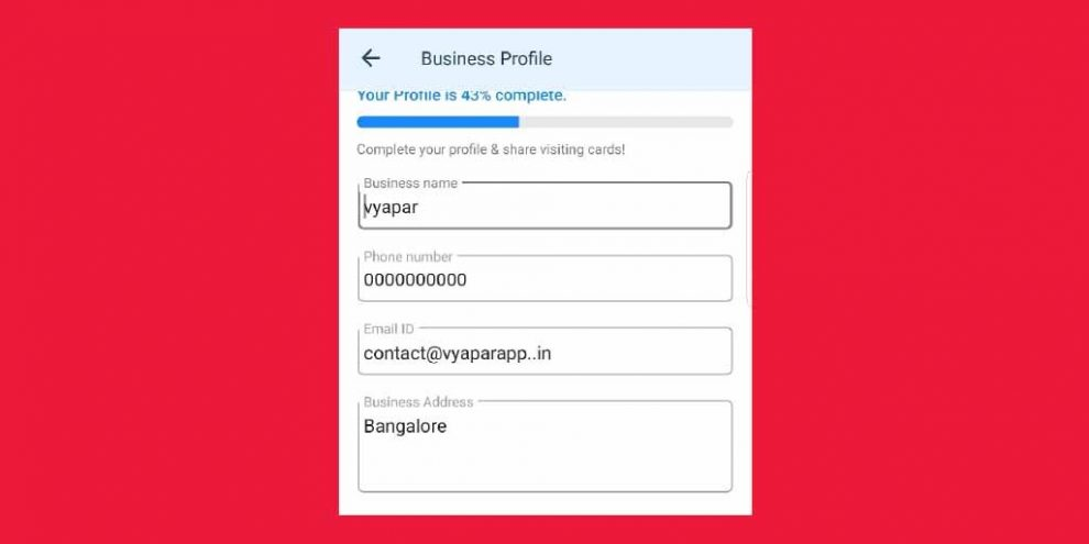 Now Be More Professional By Sharing Your Business Card From Vyapar