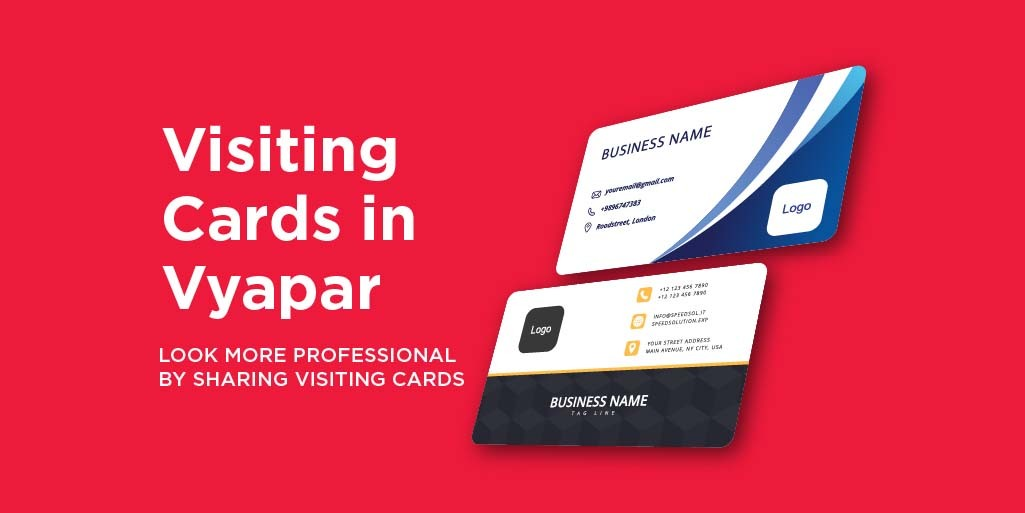 Now Be More Professional By Sharing Your Visiting Card From Vyapar